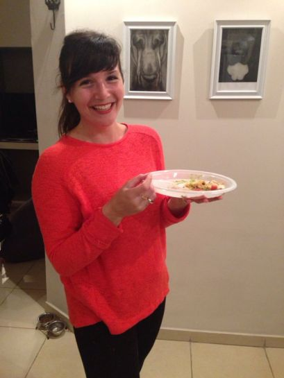 Oh - that's just me, eating a delicious taco night dinner chez moi